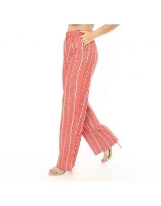 MIMO-Red-White-Striped-Trousers